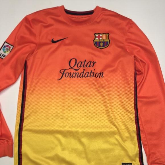 hot sale online b9c17 3f81b Barcelona long sleeve jersey